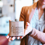 Personalized Wood Flask