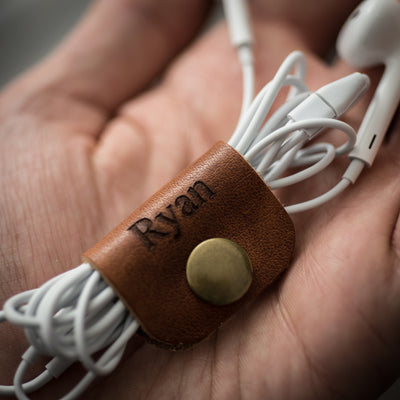 Personalized Leather Cord Snap