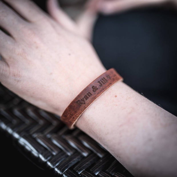 Personalized Leather Bracelet
