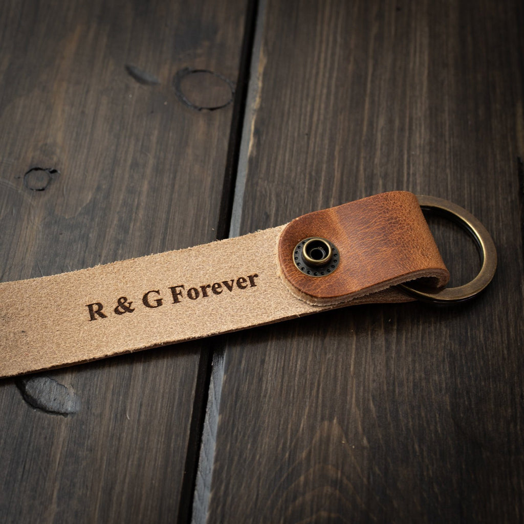 Keychain - Personalized Keychain - English Tan