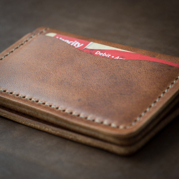 Wallet - Customized 5 Card Wallet - English Tan