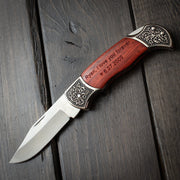 Wood Knife - Personalized Pocket Knife