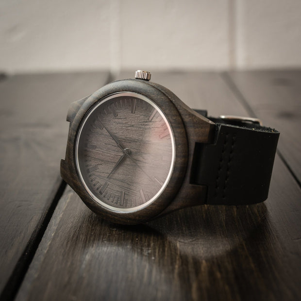 Wood Watch - Personalized Wood Watch - Black
