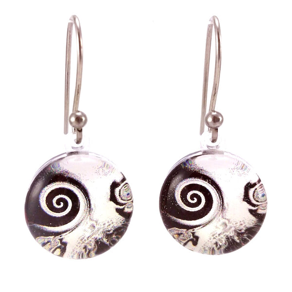 Black & White Pinwheel Earrings