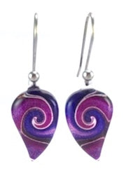 Purple Mystic Wave Flow Earrings