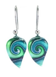Turquoise Mystic Wave Flow Earrings