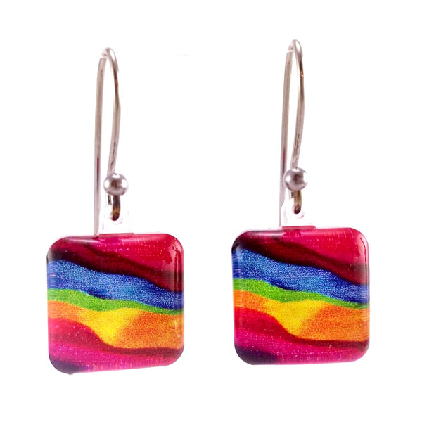 Pink Candy Stripes Earrings