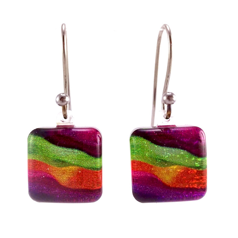 Purple Candy Stripes Earrings