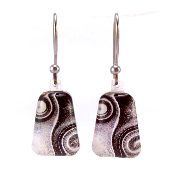 Black & White Two Waves Earrings