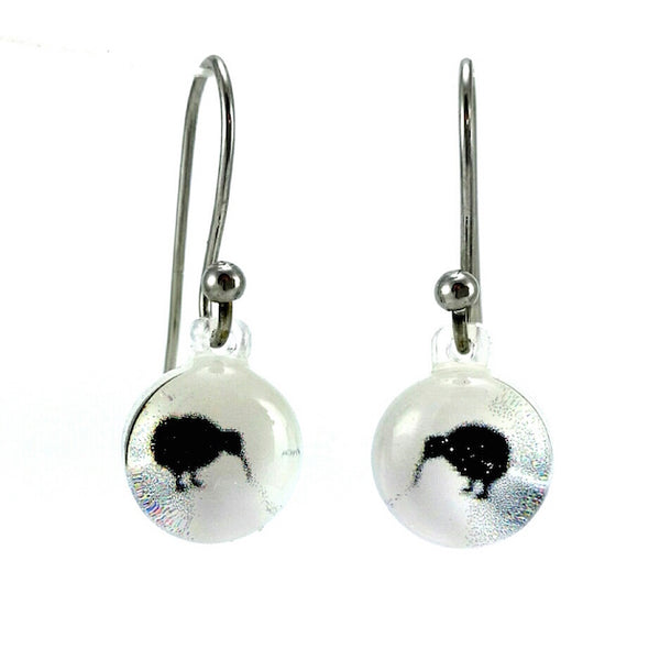 Black & White Mini Kiwi Earrings