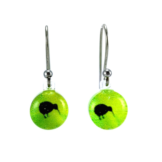 Green Mini Kiwi Earrings