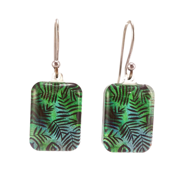Turquoise Fern Earrings