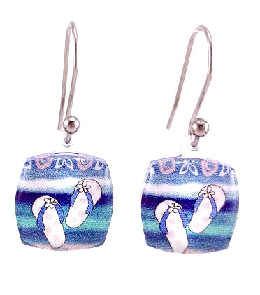 Blue Jandals Earrings