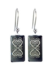 Black Kowhaiwhai Earrings