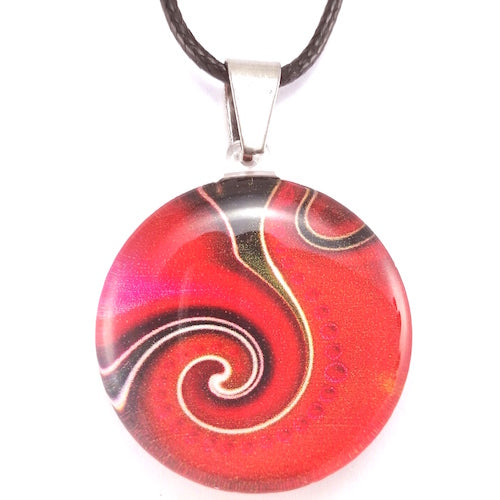 Red Dot Wave Pendant