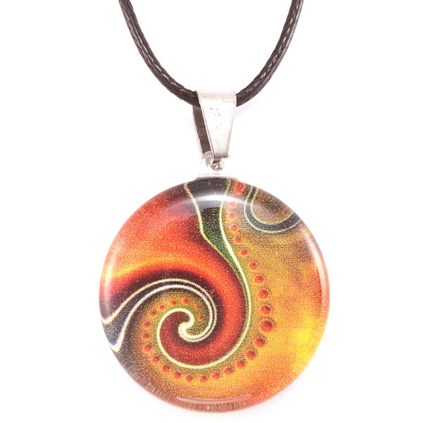 Orange Dot Wave Pendant