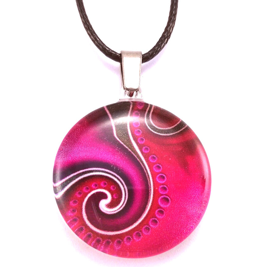 Pink Dot Wave Pendant