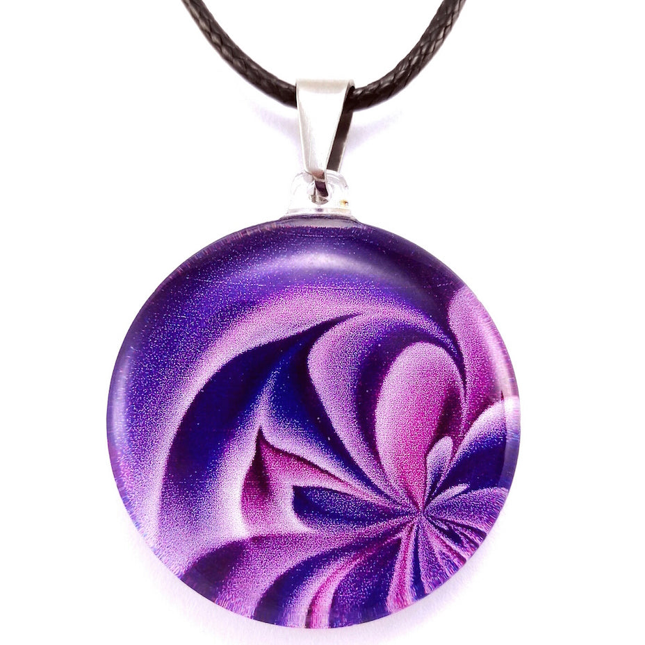 Purple Petals Pendant