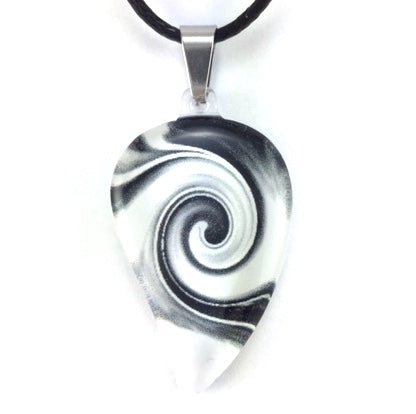 Black & White Mystic Wave Flow Pendant