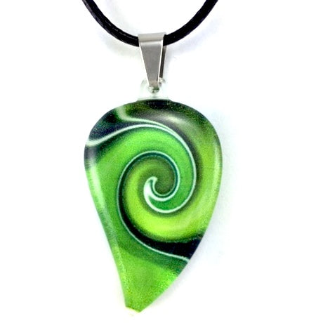 Green Mystic Wave Flow Pendant
