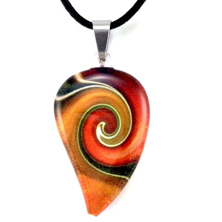 Orange Mystic Wave Flow Pendant