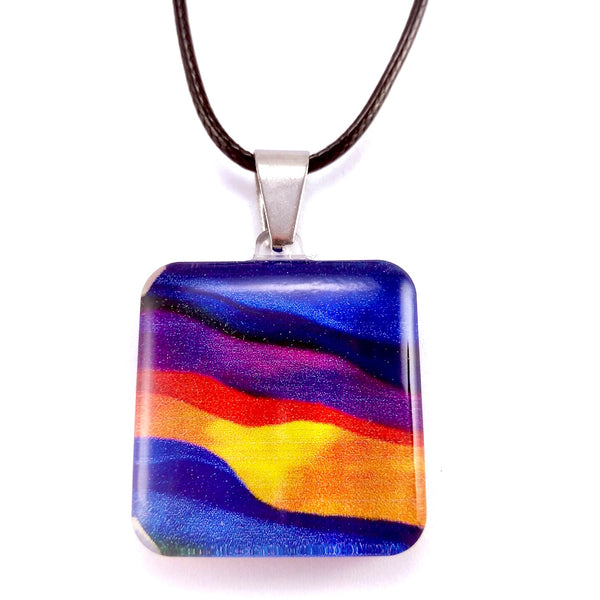 Blue Candy Stripes Pendant
