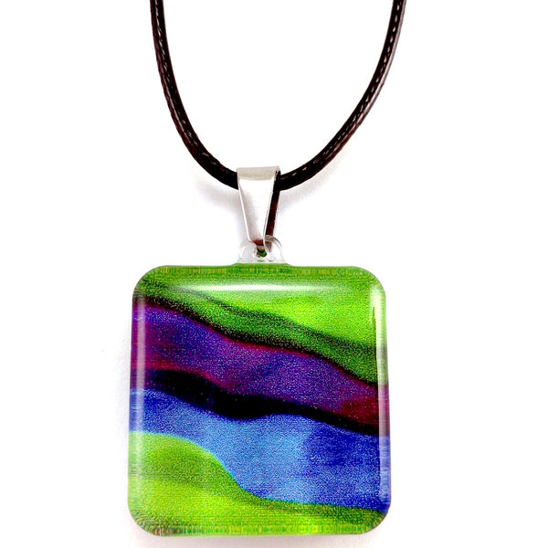 Green Candy Stripes Pendant
