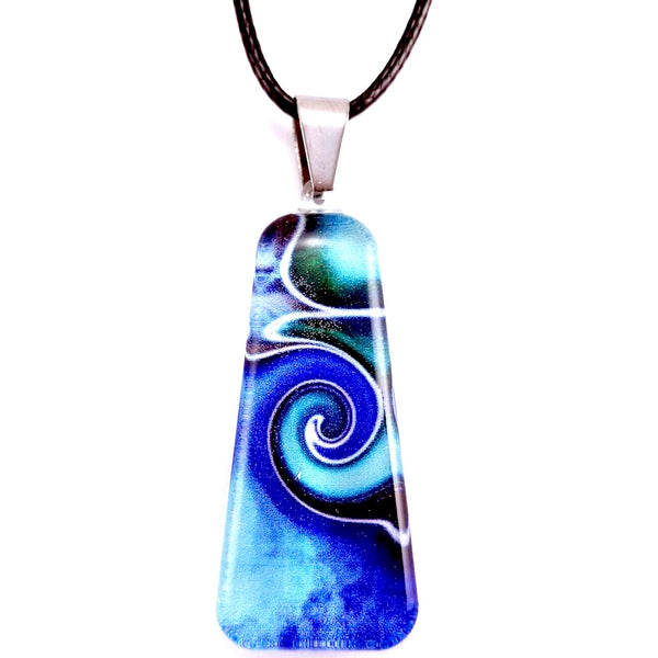 Blue Mystic Wave Pendant