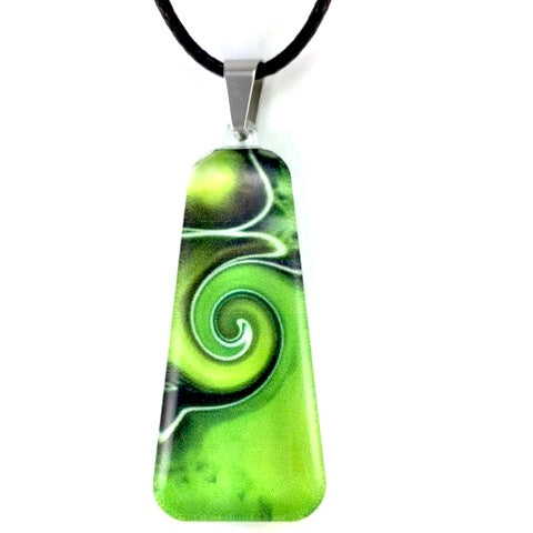 Green Mystic Wave Pendant