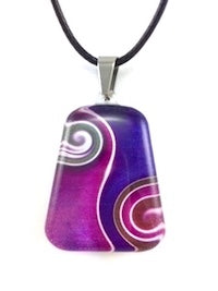 Purple Two Waves Pendant