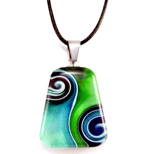 Turquoise Two Waves Pendant