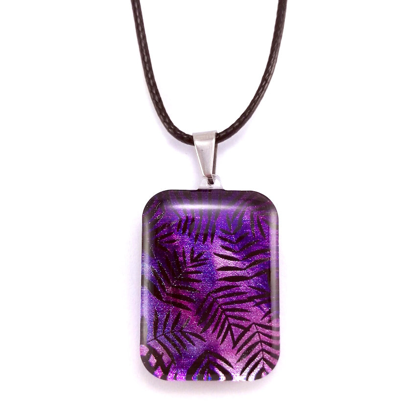 Purple Fern Pendant