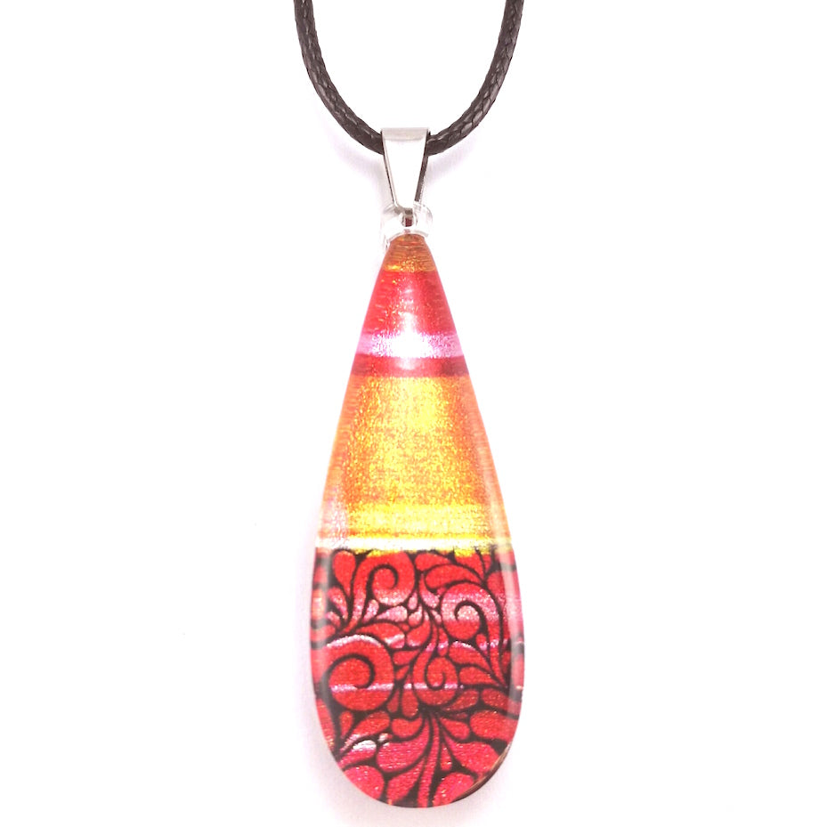 Red Lace Pendant