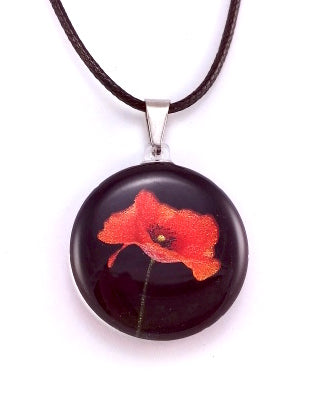 Black Poppy Pendant