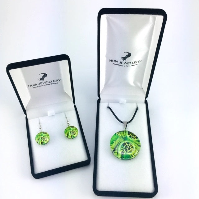 Koru Fern Pendant & Earring Set
