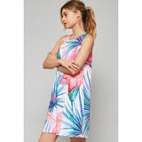 Tulip Flower Print Mini Dress