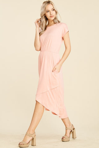 Junie Dress - Peachy Blush