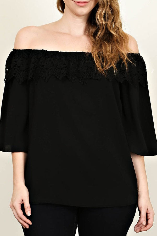 Cassandra Off Shoulder Top - Black