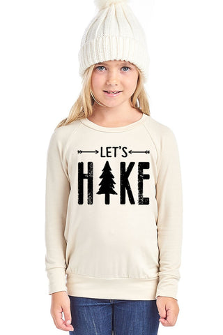 Let's Hike Lightweight Sweatshirt - Cream