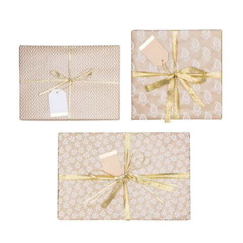 Harvest Gift Wrap - Assorted Kraft