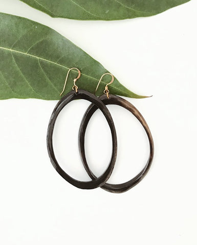 Horn Hoop Earrings