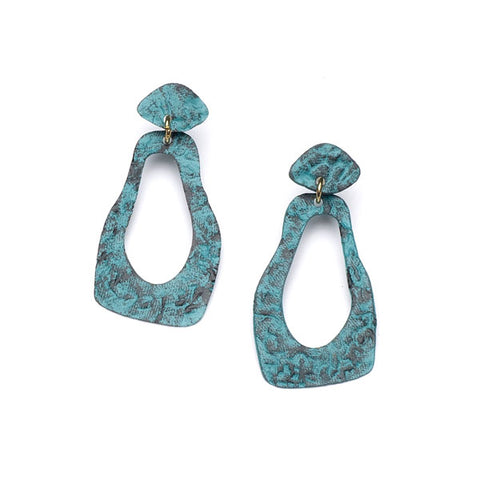 Nihira Earrings - Teal Footprints