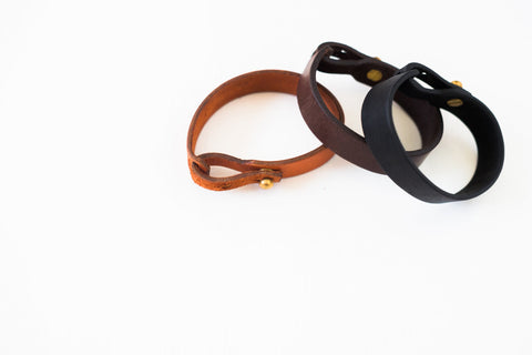 Single Wrap Leather Bracelet - Various Colors