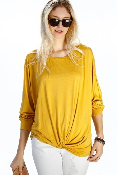 Ellie Top - Mustard