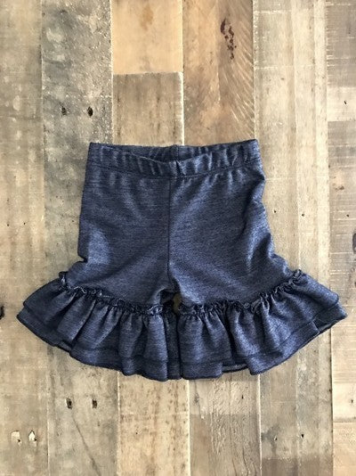 Toddler Bennett Ruffle Shorts - Denim