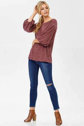 Abby Sweater - Burgundy