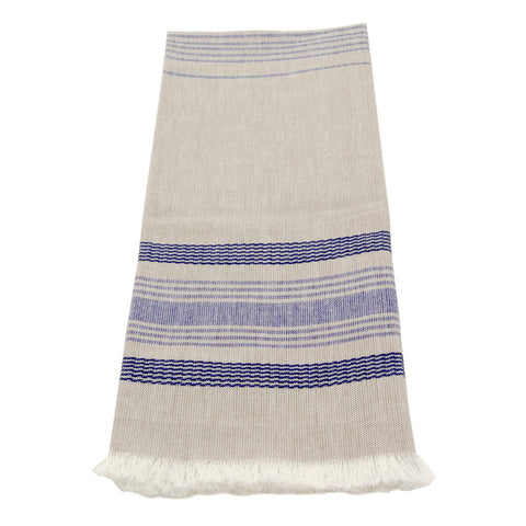 Wheat with Blue Stripes Dishtowel