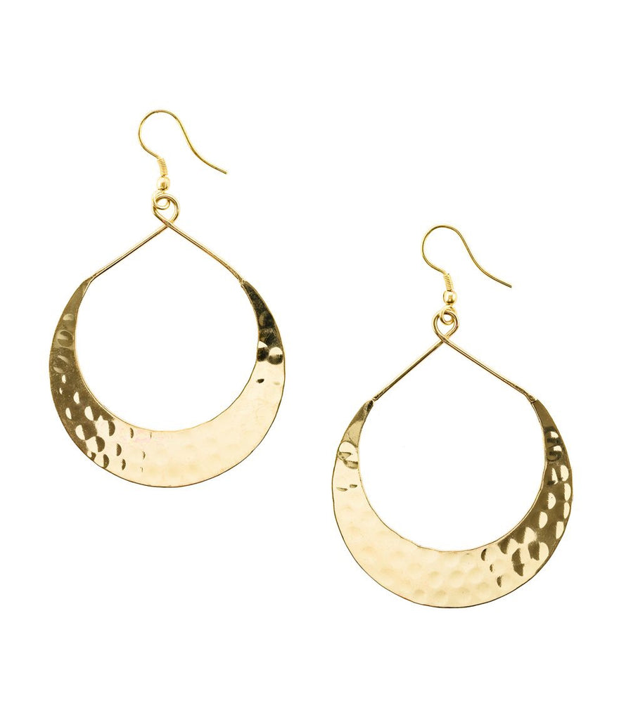 Lunar Crescent Earrings - Gold or Silver