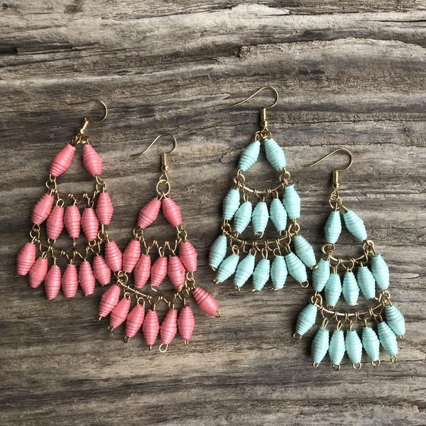 Sarah Earrings - Mint or Coral