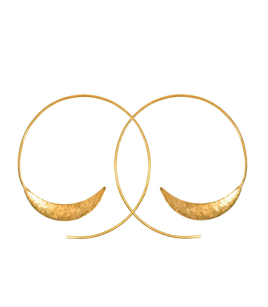 Solstice Hoops - Gold or Silver
